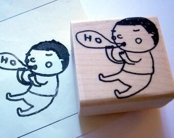 ho ho poe - rubber stamp