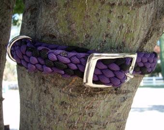 SALE Dog collar  Paracord - medium size Hand braided