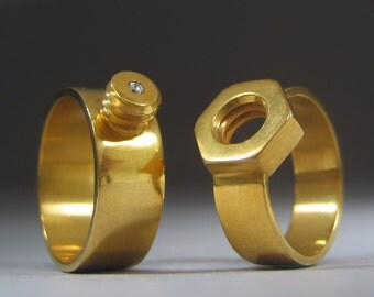 Nut and Bolt Wedding Bands