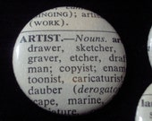 Vintage Dictionary Custom Button - You Pick the Word