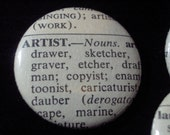 Vintage Dictionary 3 Custom Buttons