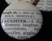2 Vintage Dictionary Custom Buttons
