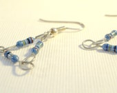 Triangulation Tri-geekery Earrings with Sterling Silver Ear Wires
