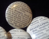 Vintage Dictionary Custom Button Set of 40 - You Pick the Words