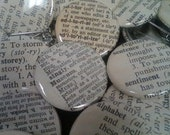 10 Vintage Dictionary Custom Buttons - You Pick the Words