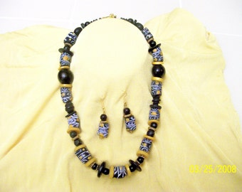 African Sunshine Necklace and earrings