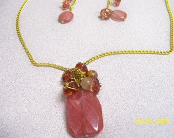 Covered Gem necklace
