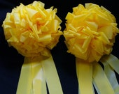 2 big YELLOW BOWS weatherproof  for the TROOPS