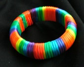 FUN X Lg Bangle Bracelet wrapped in Satin Cord