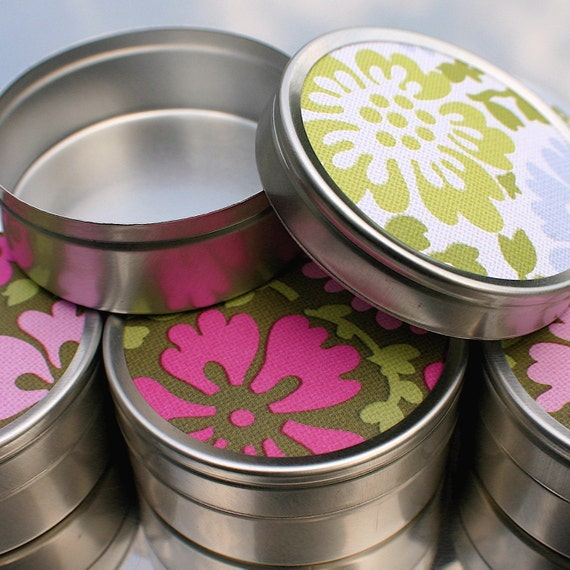 Gift Tins - set of 6 (Amy Butler Flowers)