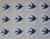 Custom Listing for Sadie - 100 Round Vintage Barn Swallow Stickers