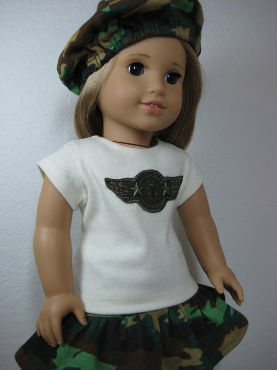 18 inch Doll Clothes American Girl Military Camouflage Outfit