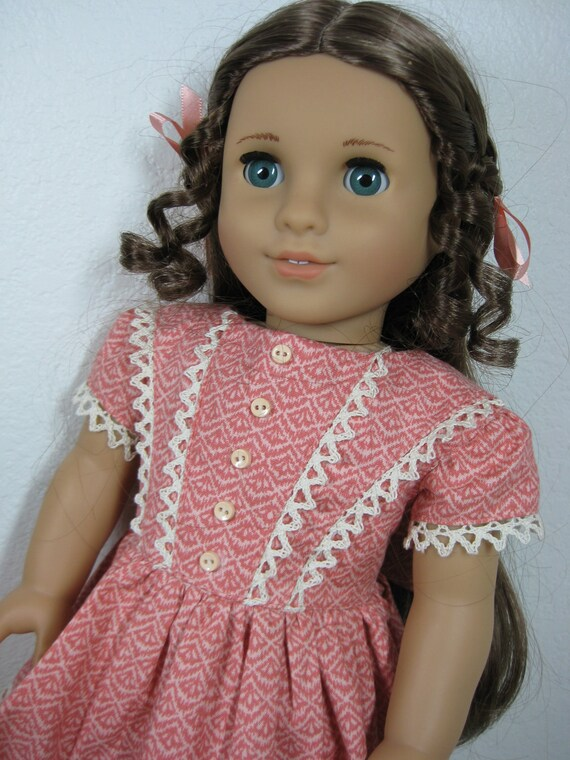 18 inch Doll Clothes American Girl Coral Dress for Marie Grace and Cecile