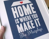 Home Is Where You Make It modern print poster custom - 8x10