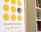 You are my sunshine modern wall art with photo, CUSTOM, 8x10