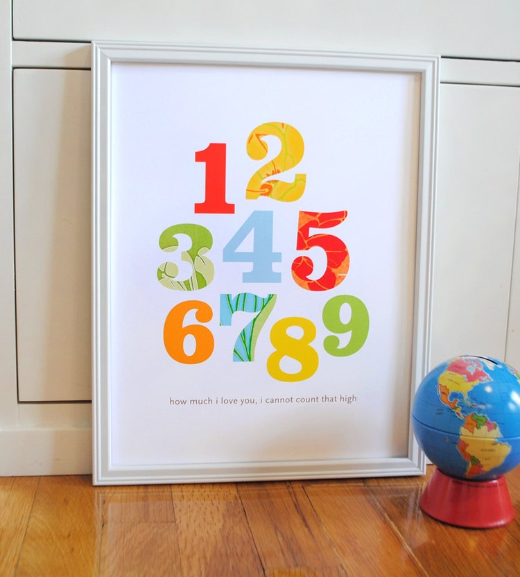 Kids Rooms Climbing Walls And Contemporary Schemes: Alphabet Print Primary Colors Modern Wall Art By