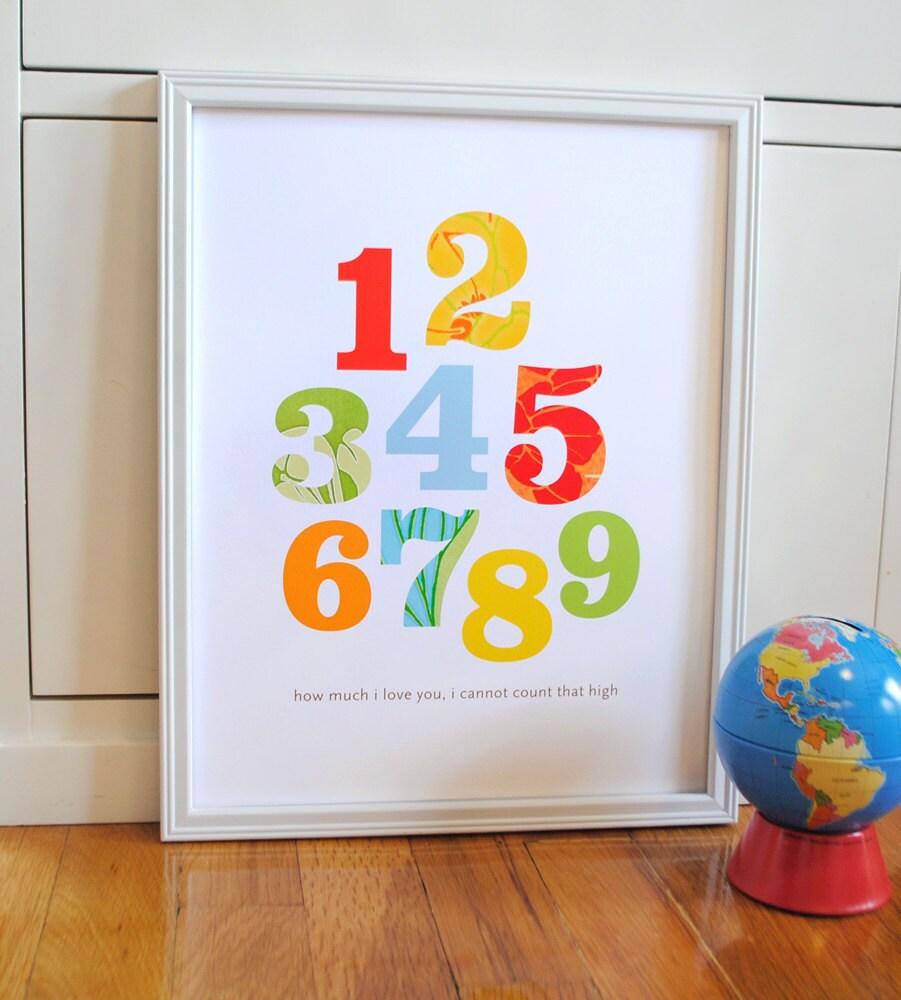 Baby Nursery Art Print Dog Abc Nursery Decor Alphabet Print: Alphabet Print Primary Colors Modern Wall Art By