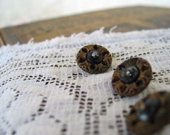 Antique Victorian metal buttons