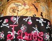 Nap Mat Cover with Attached Pillowcase Treasure Island Free Monogram