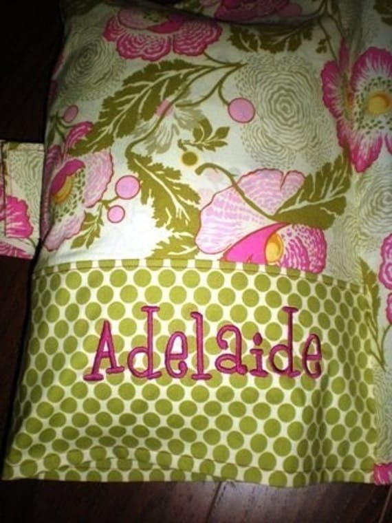 Reserved for Alma Nap Mat Cover with Attached Pillowcase - Sorbet Disco Dot - Monogrammed Free