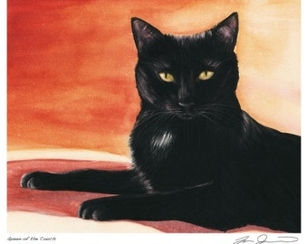 Black Cat Print - Queen of the Couch