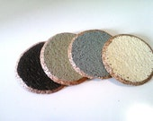 Set of 4 Painted Cork Coasters