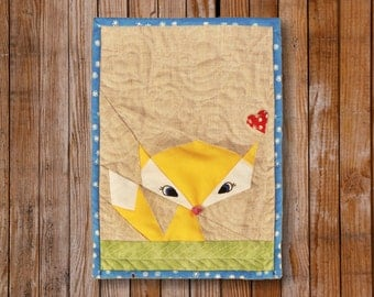 Lil' Fox  8 x 10 Quilt block Pattern