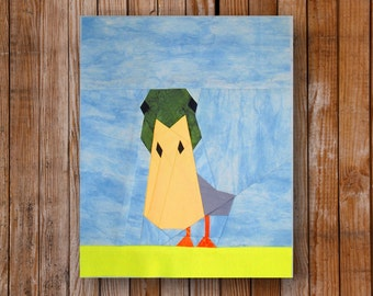 Peeping Duck 8 x 10 Quilt Block Pattern