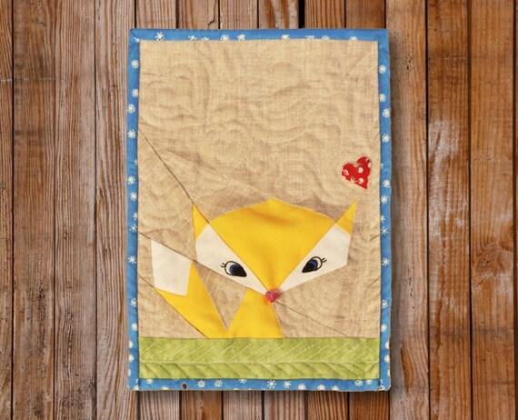 Lil' Fox  8 x 10 Quilt block Pattern
