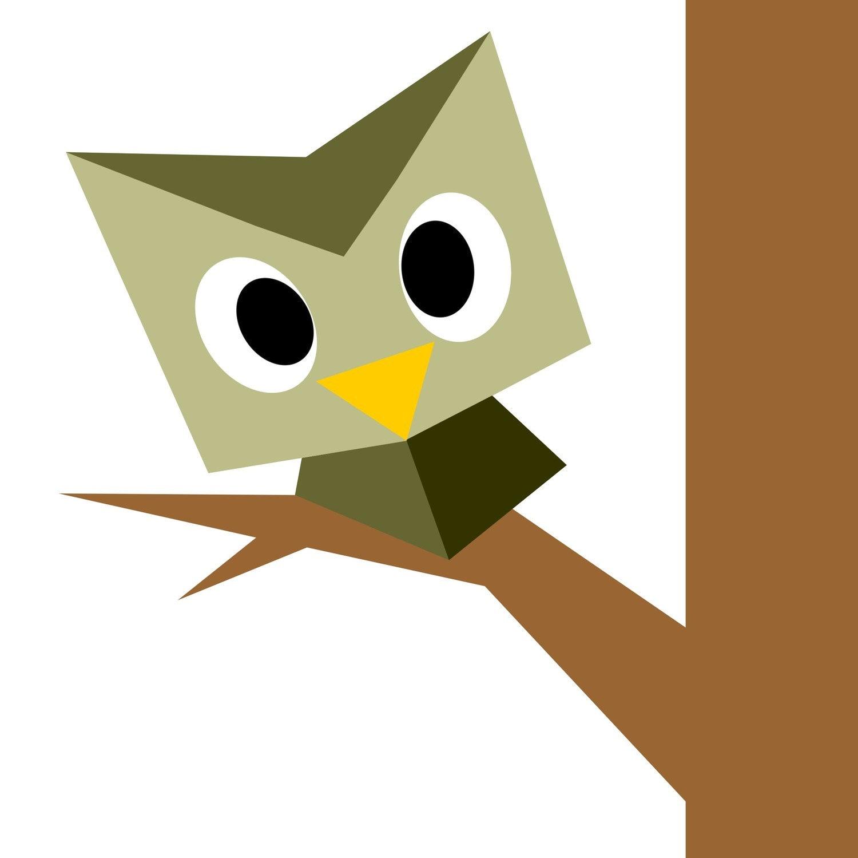 easy peeping owl 10 x 10 quilt block pattern
