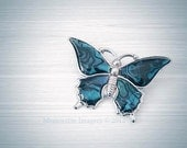 Butterfly Photography Print Insect Blue Wings Silver Grey Wall Art Home Decor 5x7