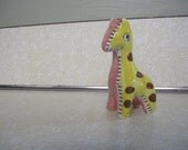 Vintage  Patchwork Giraffe Ceramic Nursery Decoration