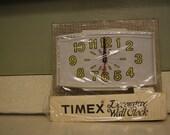 Vintage Timex Wall Clock Daisy Yellow Retro