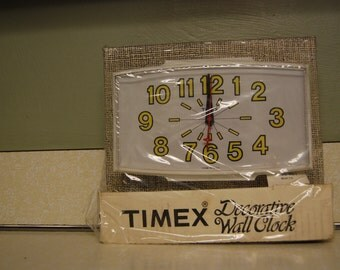 Vintage Timex Wall Clock Daisy Yellow Retro