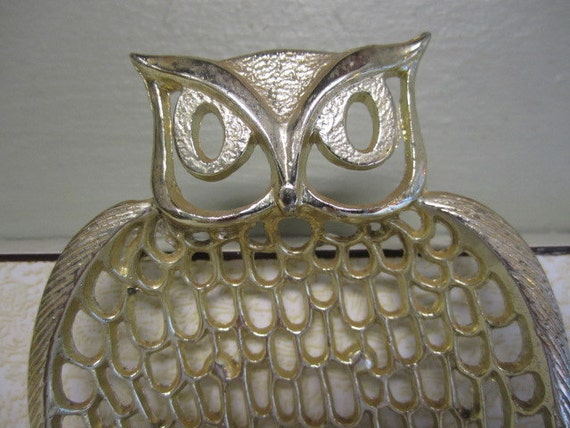 Vintage Wallet Change Jewelry Holder Owl