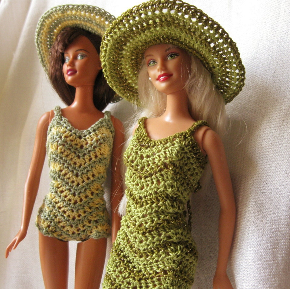 Crochet Barbie : Items similar to Barbie Doll crochet pattern- Chevron dress and ...