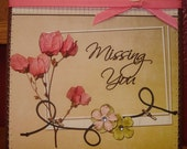 Missing You - Card by MyStampHabit.com