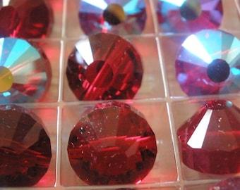 Vintage Glass Beads Swarovski (2) Siam AB ART. 5101 Beads