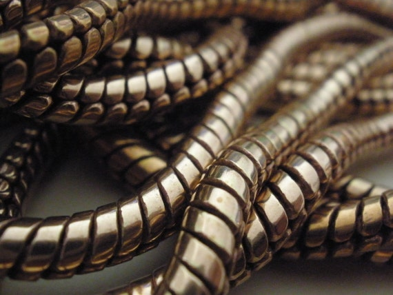Vintage Brass Snake Chain HIgh Quality Great Patina (a little darker than in the picture)