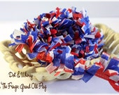 Grand Old Flag --ON THE FRINGE-- Handmade Crepe Paper Fringe