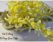 Lemon Chiffon --ON THE FRINGE-- Handmade Crepe Paper Fringe