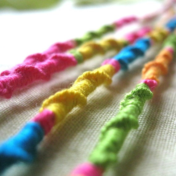 Embroidery Floss Friendship Bracelets Bright Candy By