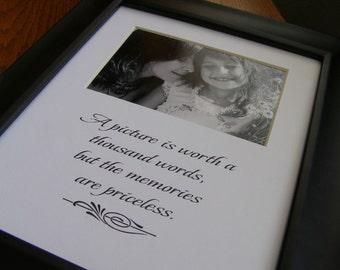 Memories are Priceless 8 x 10 Picture Photo Mat Design M4
