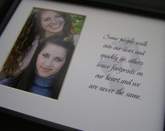 Some people walk into our lives and leave footprints 8 x 10 Word Picture Photo Mat Design M27