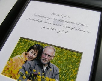 Across the Years I will walk with you..8 x 10  Photo Mat Design M26