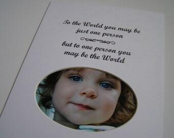 To The World Designer Picture Photo Mat Design M43