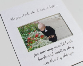 Enjoy The Little Things Designer Picture Photo Mat Design 46