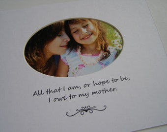All That I Am Picture Photo Mat Mother Daughter Design M37