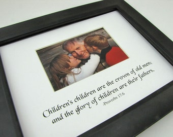 Children's children are the crown  8 x 10 Picture Photo Mat Design M64
