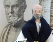 Hippocrates Doll Miniature Art Collectible Medical History